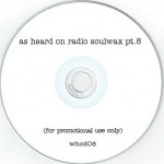 As Heard On Radio Soulwax pt. 8 CD label