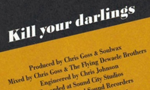 Excerpt from Kill Your Darlings single sleeve