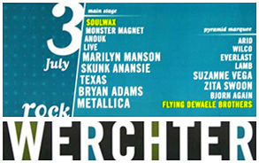 Soulwax and Flying Dewaele Brothers on Werchter 1999 Poster