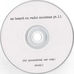 As Heard On Radio Soulwax pt. 11 CD label